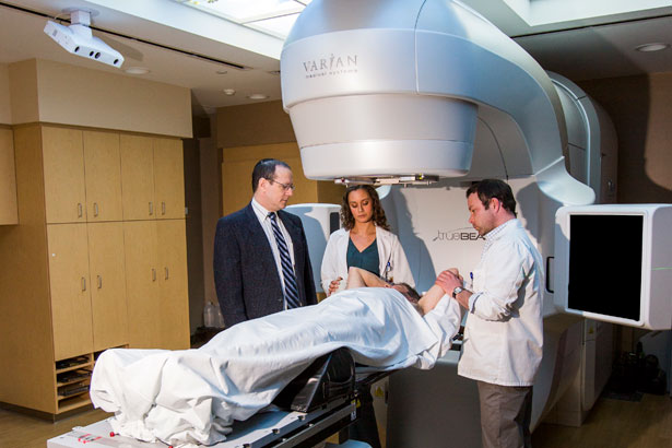 Englewood Hospital uses the TrueBeam system, which delivers high-dose stereotactic radiation therapy and is capable of treating patients in one session.