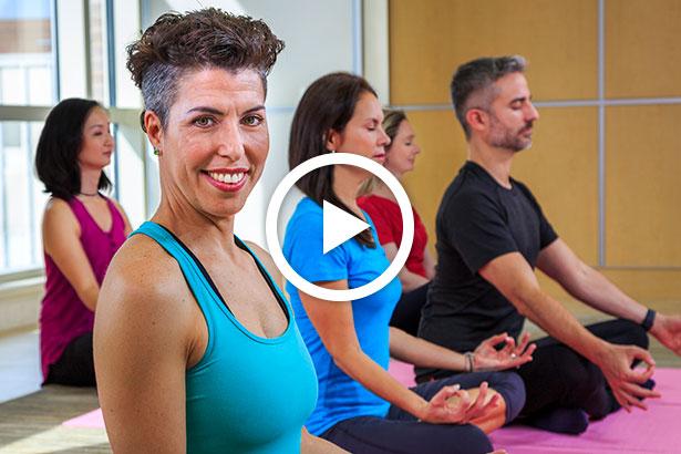 Cancer team yoga