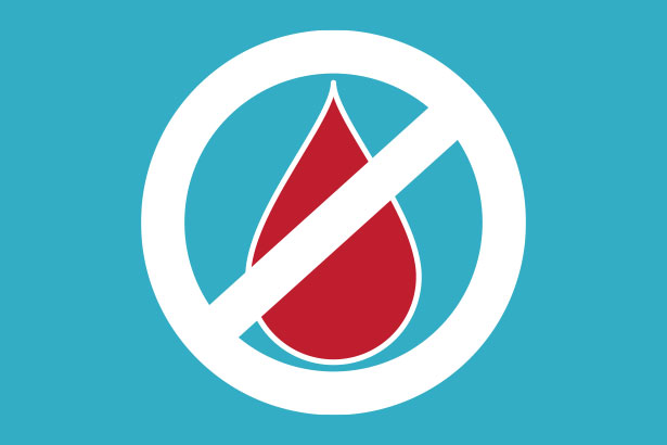 """No Blood"" symbol"
