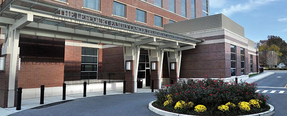 Lefcourt Family Cancer Treatment and Wellness Center entrance