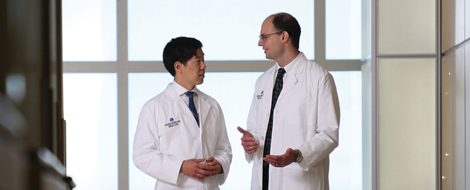 Two physicians in conversation