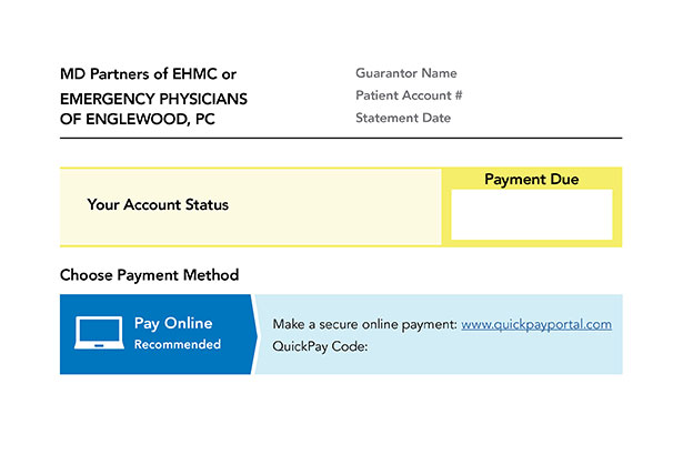Sample invoice Englewood Health Physician Network